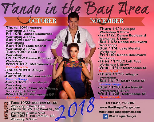 Maxi Copello Raquel Makow Tango Bay Area 2018
