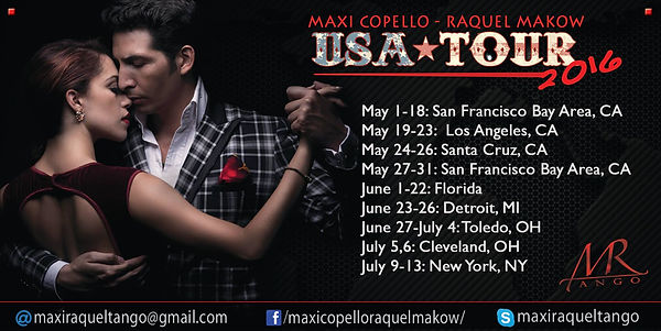 Maxi Copello - Raquel Makow Tour 2016