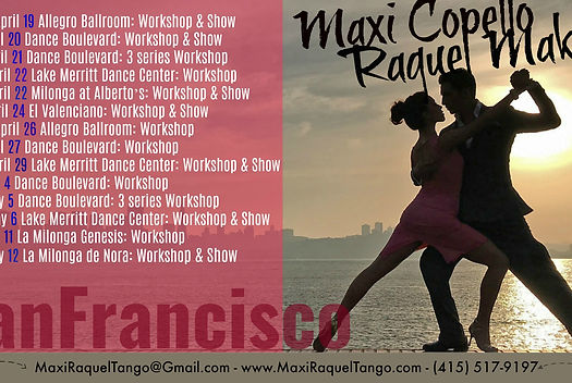 Maxi Copello Raquel Makow San Francisco 2017