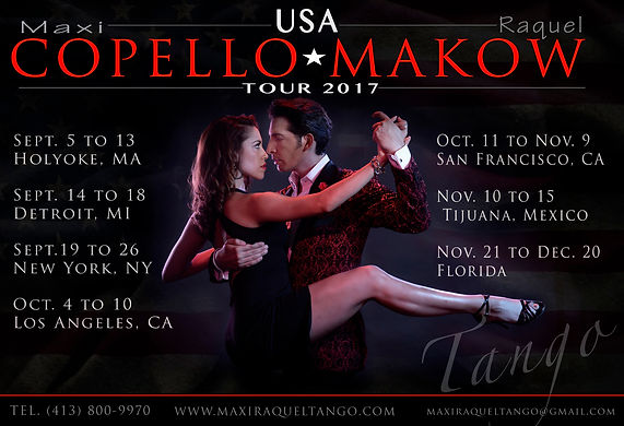 Maxi Copello Raquel Makow Tour USA 2017