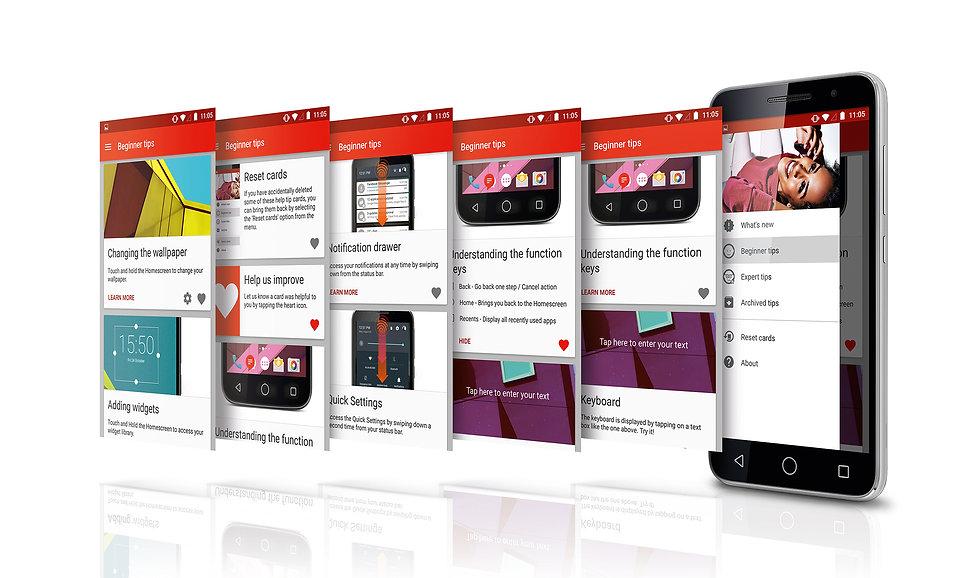 UI design for smart phone tips