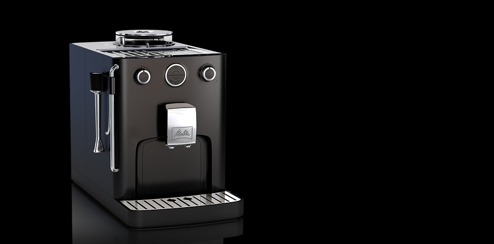 industrial design for small kitchen appliance coffee maker