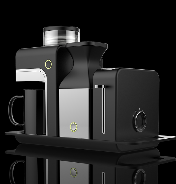industrial design for smll kitchen appliances coffee machine