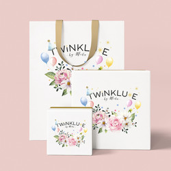 TWINKLUXE cake box and shopping bag
