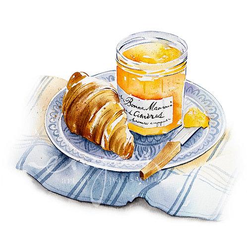 An original painting – Breakfast