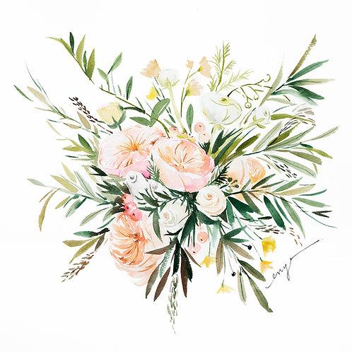 An original Julia bouquet painting