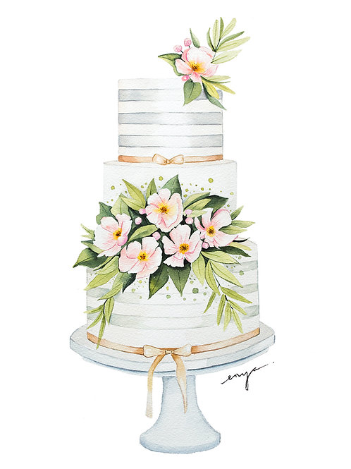 An original painting – Wedding Cake