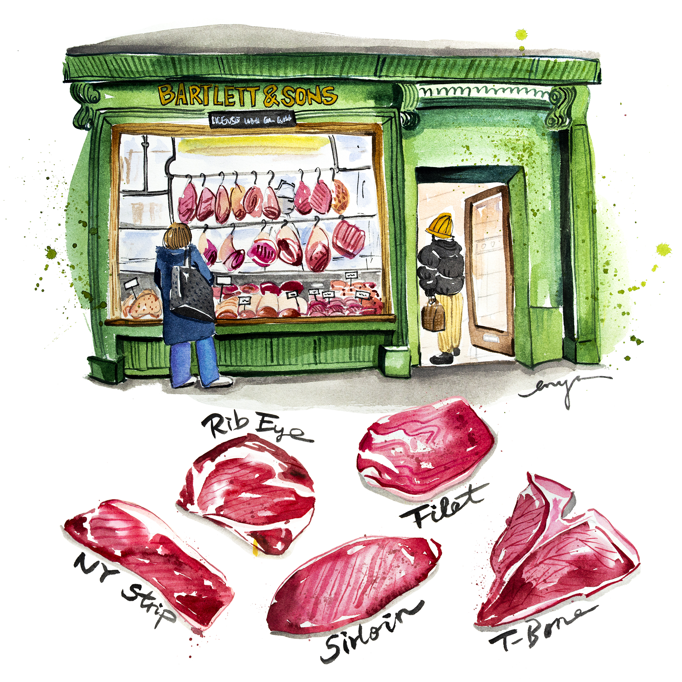 Local butcher in Bath