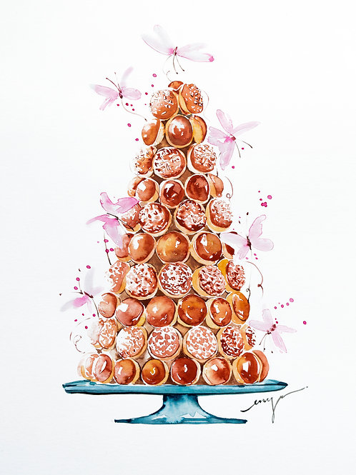 An original painting – Croquembouche