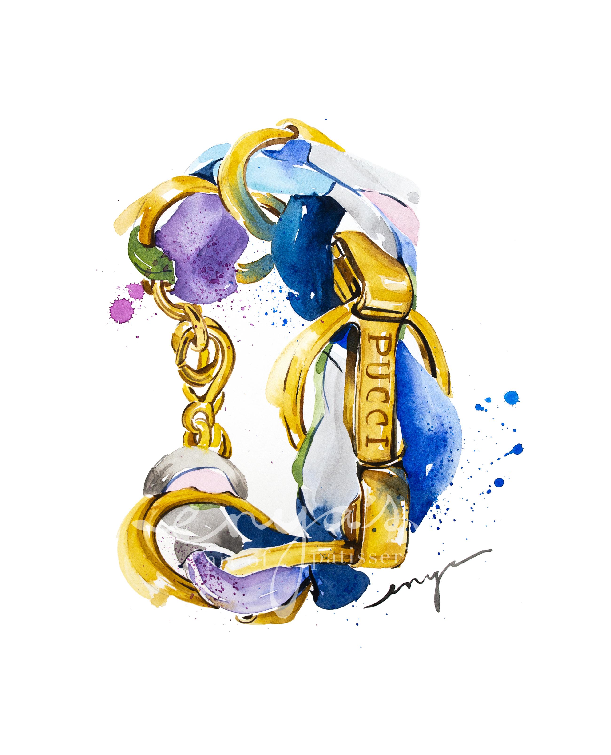 Logo Engraved Woven Chain Bracelet