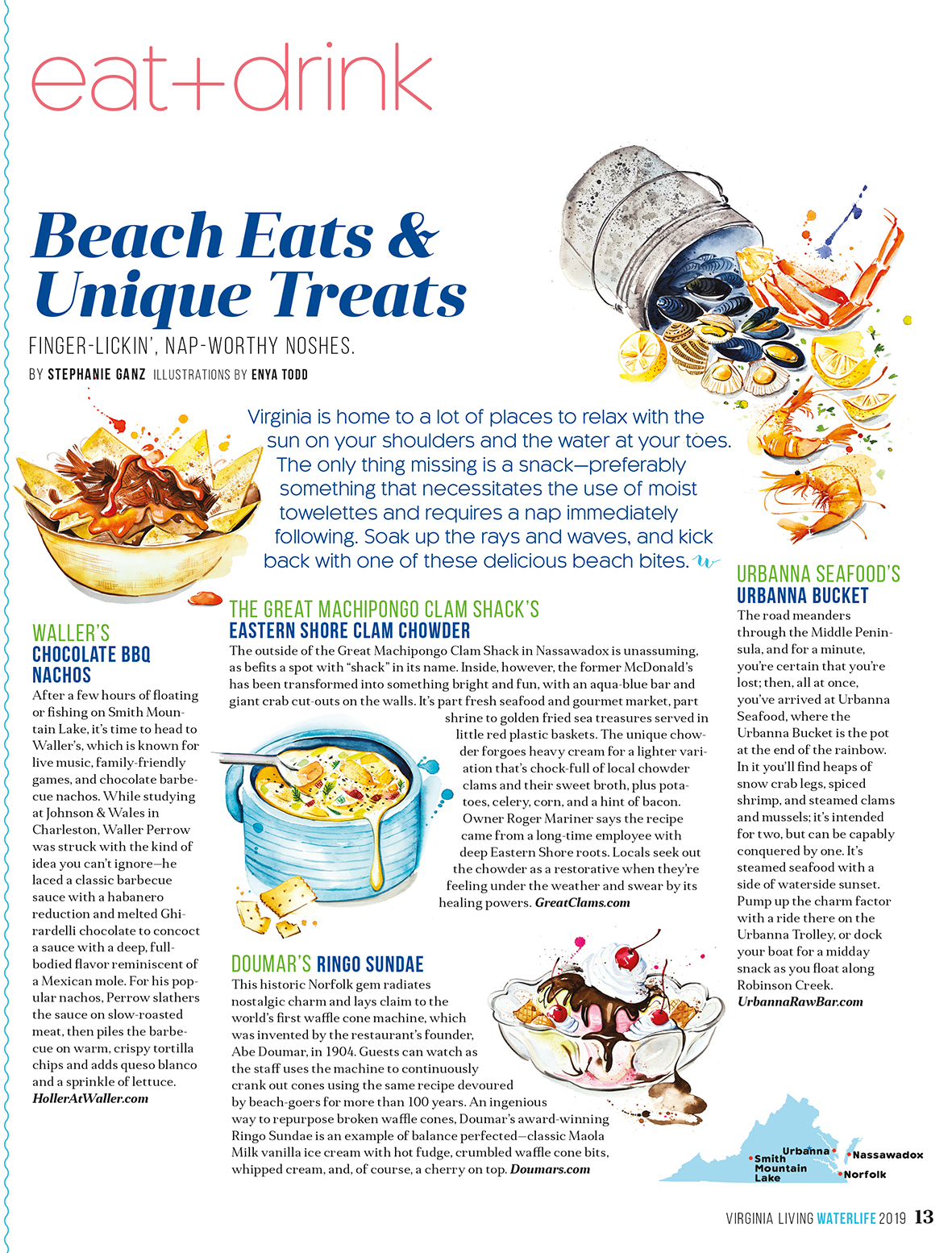 Virginia Living magazine July issue