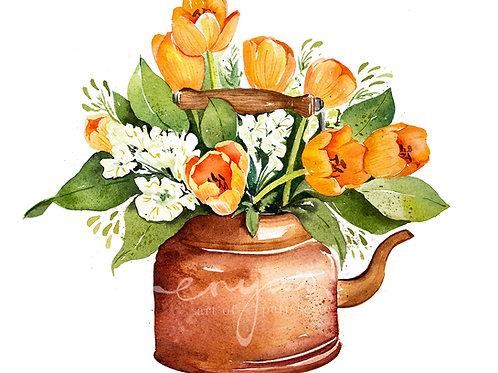 An original painting – Teapot