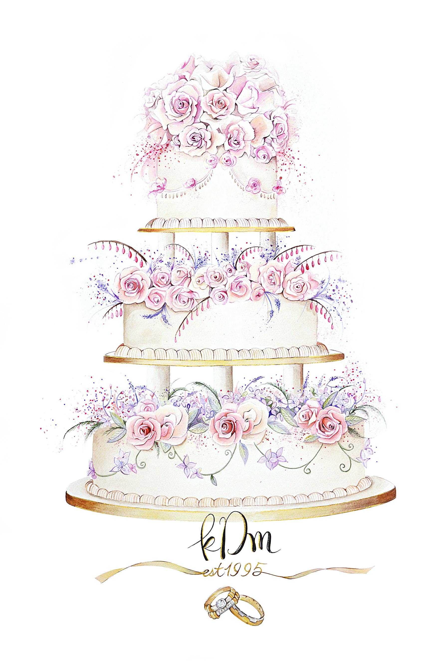 A2 size wedding cake