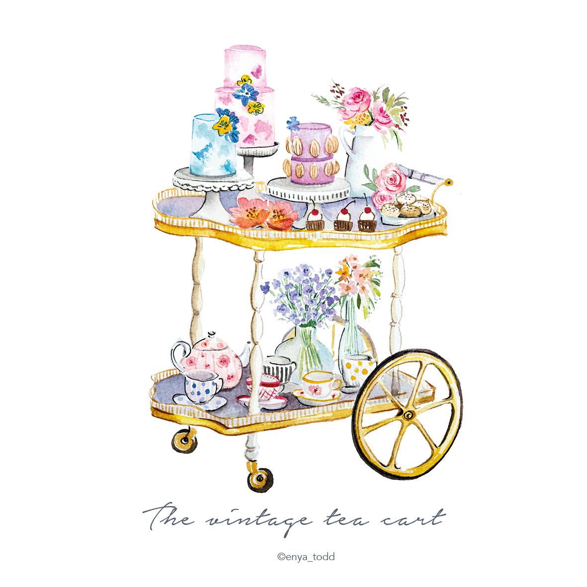Vintage_teacart
