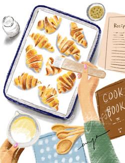 Baking croissants (#procreated)