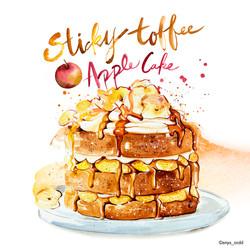 Sticky Toffee Apple Cake