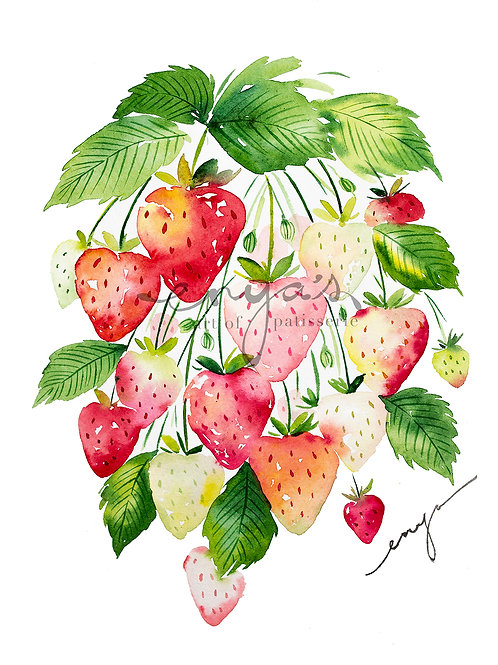 An original painting – Summer Strawberry