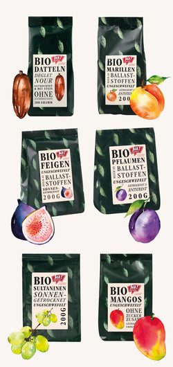 Packaging illustrations for organic food