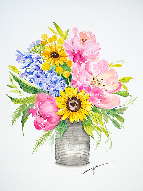 An original painting – Bouquet of flowers