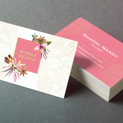 Nibble & Chew business card design