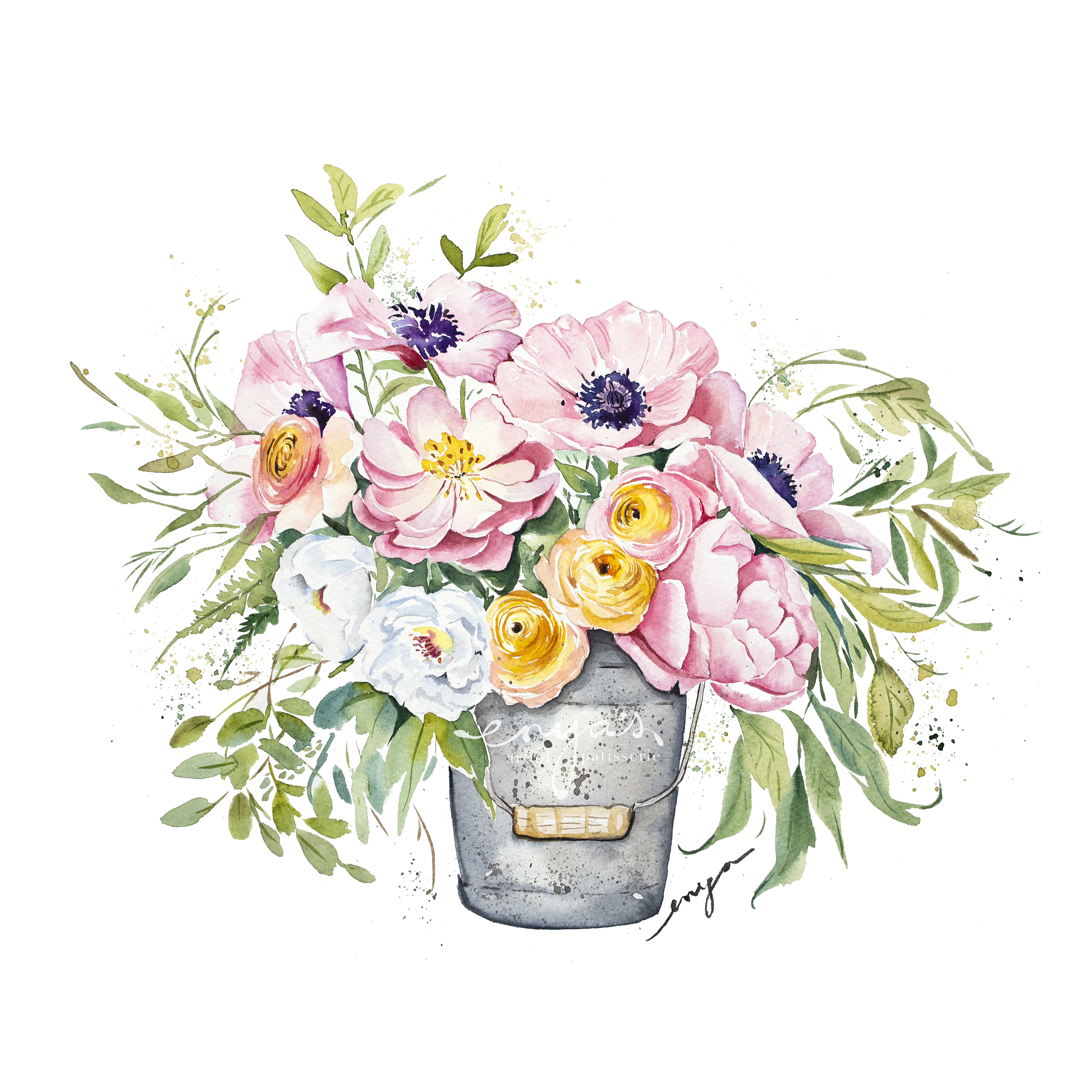 Bucket of flowers