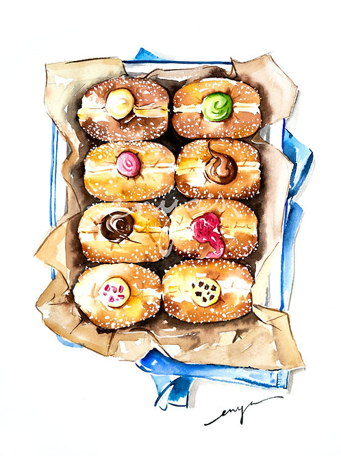 An original painting – Donuts