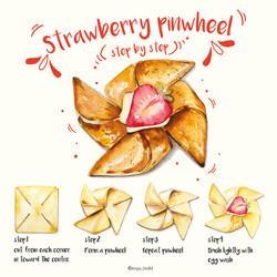 Strawberry Pinwheel