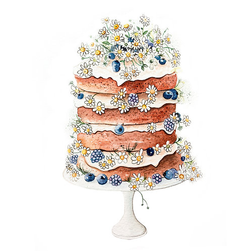 An original painting – Daisy cake