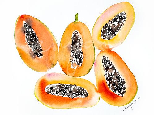 An original painting – Papaya