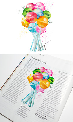 Lollipops for Liahona Magazine US