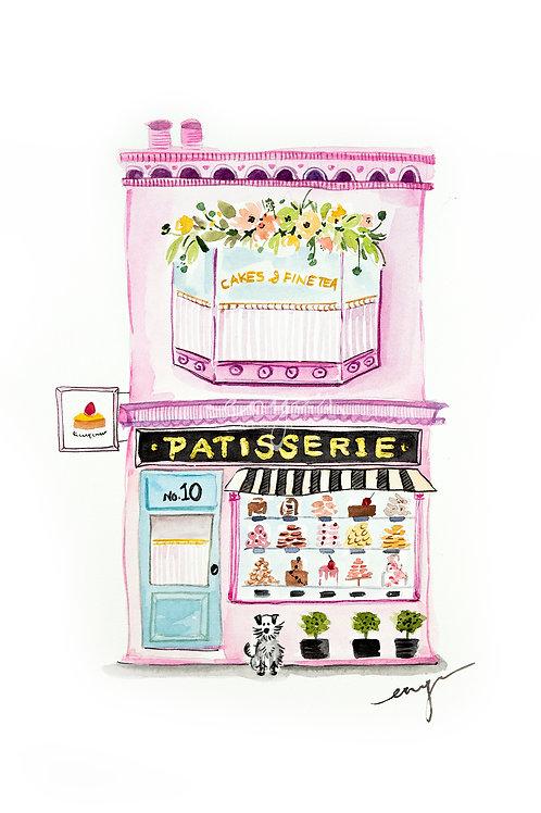 An original painting – Patisserie shopfront
