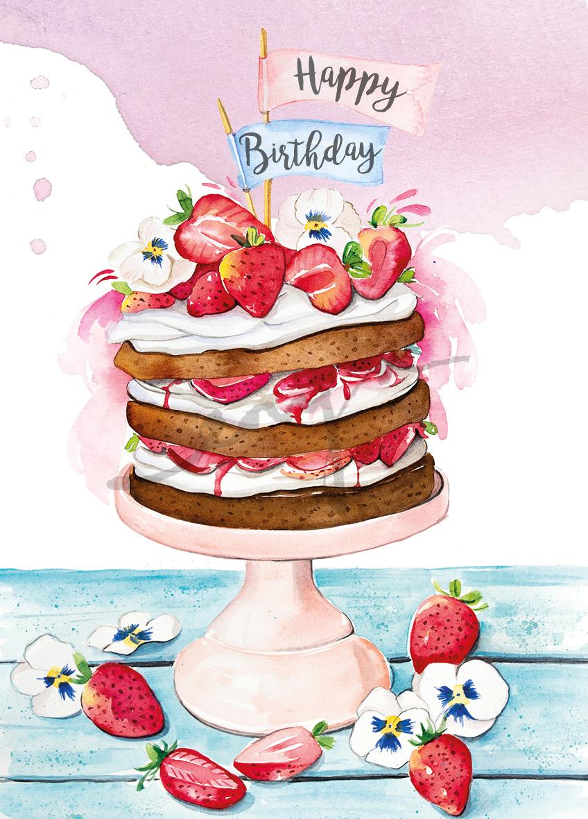 February birthday cake