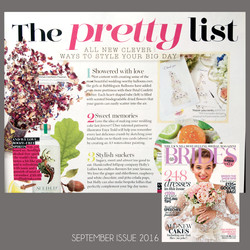BRIDES magazine - September issue