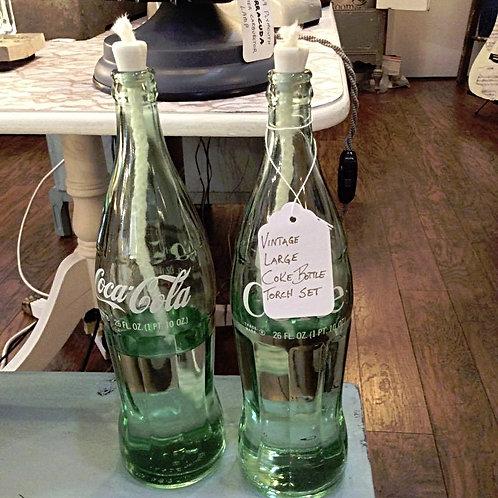 26 Ounce Large Vintage Coke Bottle Torch Set