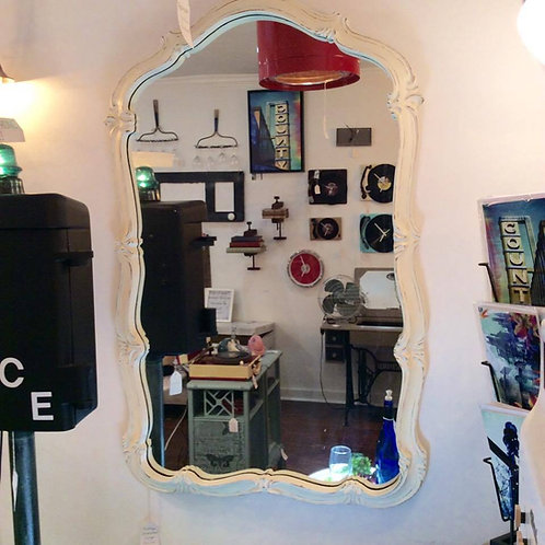 Beautiful Chalk Painted and Distressed Mirror