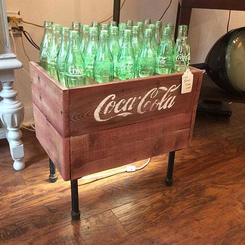 Reclaimed Wood Vintage Coke Bottle Floor Lamp