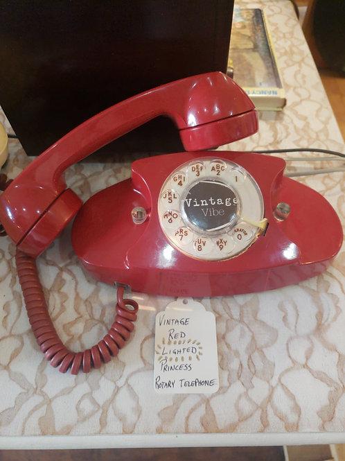 Refurbished Vintage Lighted Princess Telephone