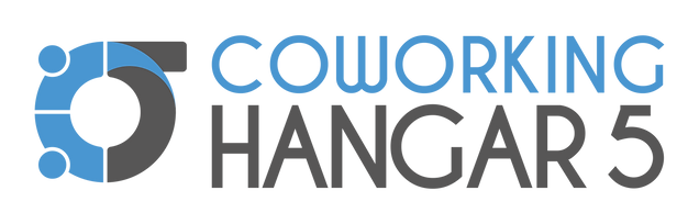 Logo completa Coworking Hangar 5_fundo T