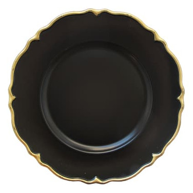 Charger plate, black & gold