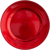 Charger plate red acrylic