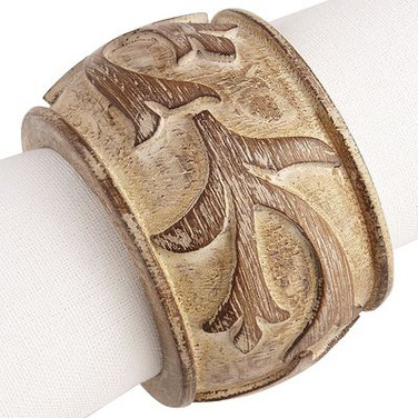 Napkin Ring - Wooden floral