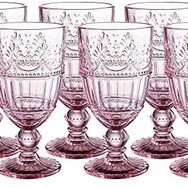 Water Goblets in Vintage Pink