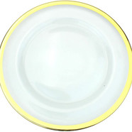 Clear Glass Charger 13 Inch Dinner Plate