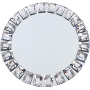 Glass mirror charger Plate