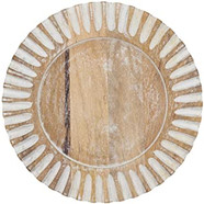 Wooded larger plate