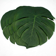 Palm leaf charger plates