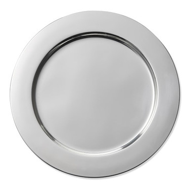 Silver Charger Plate metal