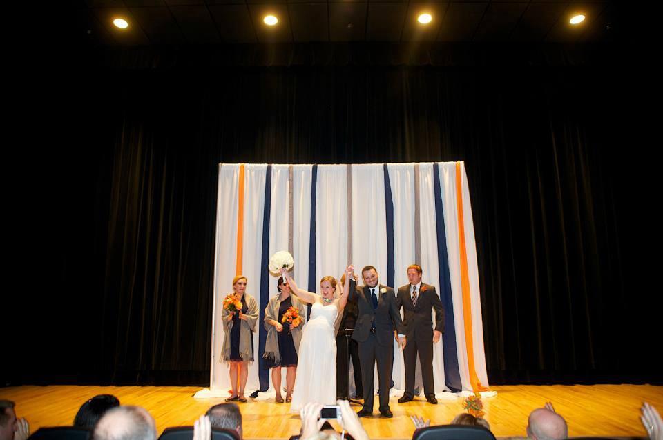 Ceremony in stripes