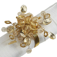 Napkin Ring - Gold Sparkle