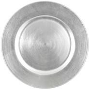 Charger plate silver, acrylic